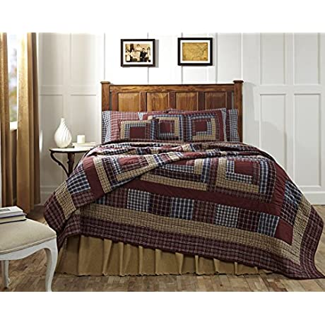 10 Pc FINLEY King Quilt SUPER SET Patchwork Bundle Bedding