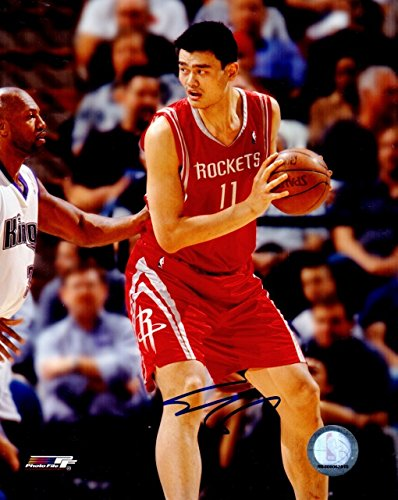 549c659b1a7d6 Yao Ming Signed - Autographed Houston Rockets 8x10 inch Photo at ...