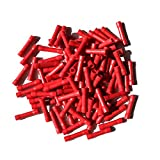 22 guage insulated wire - DTTUN 100 Pcs Wiring Connecting 16-14 Gauge Assorted Insulated Straight Wire Butt Electrical Crimp Terminal Connectors (Red BV1.25 22-16 AWG)
