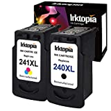 Inktopia Remanufactured for Canon PG-240XL CL-241XL Ink Cartridges (1 Black + 1 Tri-Color) Compatible with Canon PIXMA MG3620 MG3520 MG2220 MG3220 MG3522 MX472 MX452 MX522 MX532 MX392 MX432 MX512