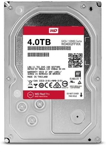SATA 6 Gb//s WD Red Pro 4TB NAS Internal Hard Drive 256 MB Cache 3.5 WD4003FFBX 7200 RPM Class CMR