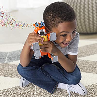 RUSTY RIVETS – Tigerbot Building Set with Lights & Sounds, for Ages 3 & Up: Toys & Games