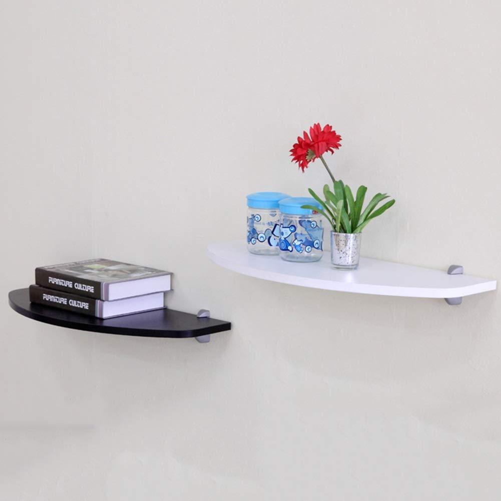 LIANGLIANG Estantes De Pared Flotantes Diseño Creativo del Arco De Suspensión De Almacenamiento Fijo Display Stand Estable Estable Color : Blanco, Tamaño : 60x24x1.6cm 2 Estilos