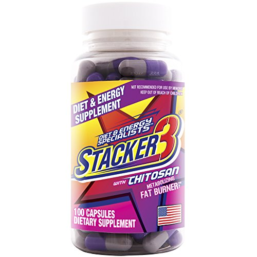Stacker 3 Metabolizing Fat Burner with Chitosan, Capsules, 100-Count Bottle (Best Way To Eat Oats For Bodybuilding)