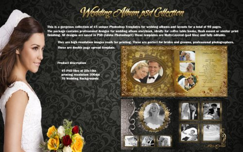 Digital Photography Photoshop Wedding Album Templates