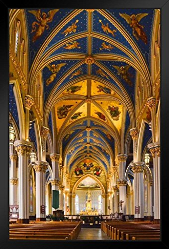 Interior Basilica of The Sacred Heart Notre Dame Photo Art Print Framed Poster 14x20 inch
