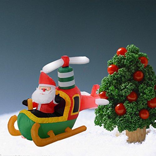 Tangkula ft air blown inflatable christmas santa claus