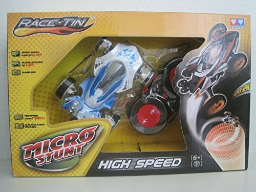 Race-Tin Micro Stunt High Speed 17KMH Radio Control Car 1:32 Scale Slop Long Jump, Super Spin & Jump Of 0.4m