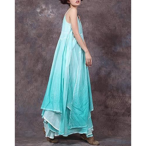 Bolsillos Correa Espagueti One Size Green Shiduoli Mujermaxi Size Con De Swing color Gray Para Dress 81nndU