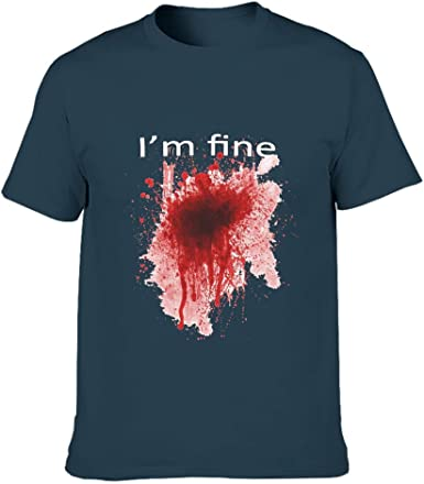 Camiseta de manga corta para hombre Funny I am Fine de ...