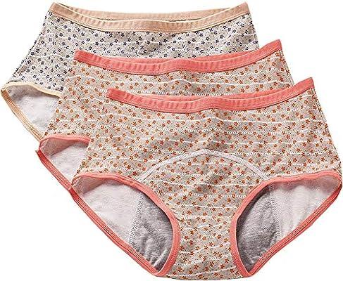 3 Pack Teens Cotton Menstrual Protective Underwear Girls Leak Proof Period Panties Women Postpartum Briefs