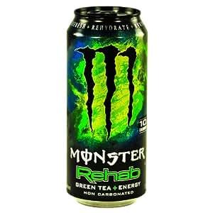 8 Pack - Monster Rehab - Green Tea + Energy - 15.5oz