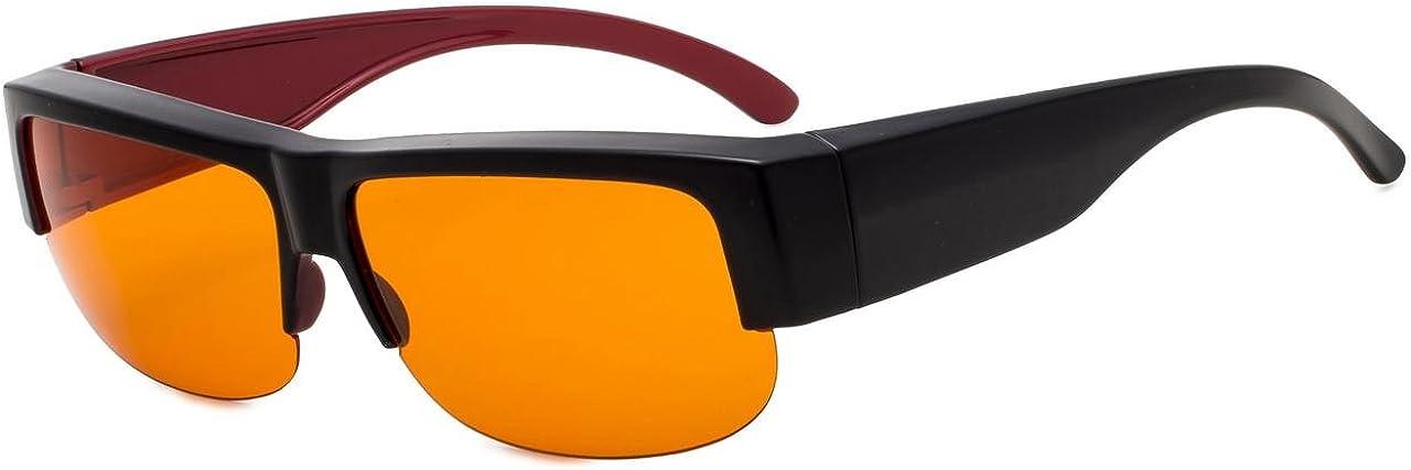 Noir-Rouge Eyekepper Lunettes de lecture de blocage de lumi/ère bleue 0.50 Protection UV420 Lunettes de lecture dordinateur