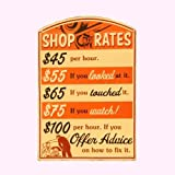 Open Road Brands Shop Rates Tin Sign (90146039)