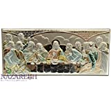 The Last Supper of Jesus Sterling Silver Icon Wall Plaque Jerusalem Holy Land