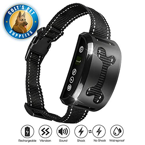 Colt's Pet Supplies Bark Collar [Upgraded] | Anti-Barking Collar | Smart Chip | Beeps/Vibration/Shock Mode | for Small Medium and Large Dogs All Breeds Over 6 Lbs from Colt's Pet Supplies