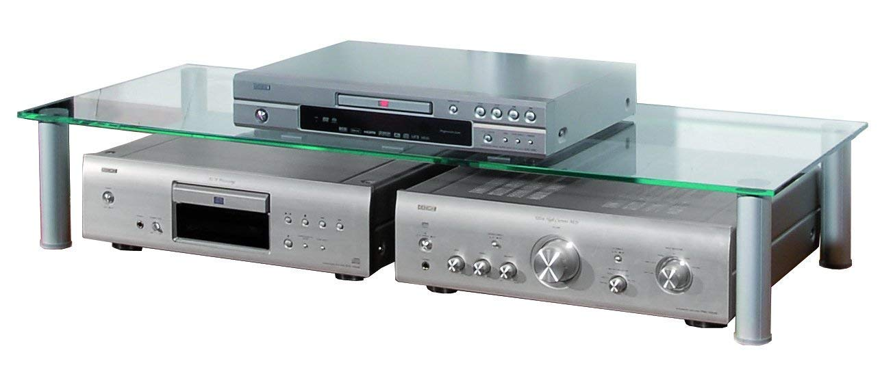 VCM 16630 Felino-Mini Support TV Aluminium//Verre Argent