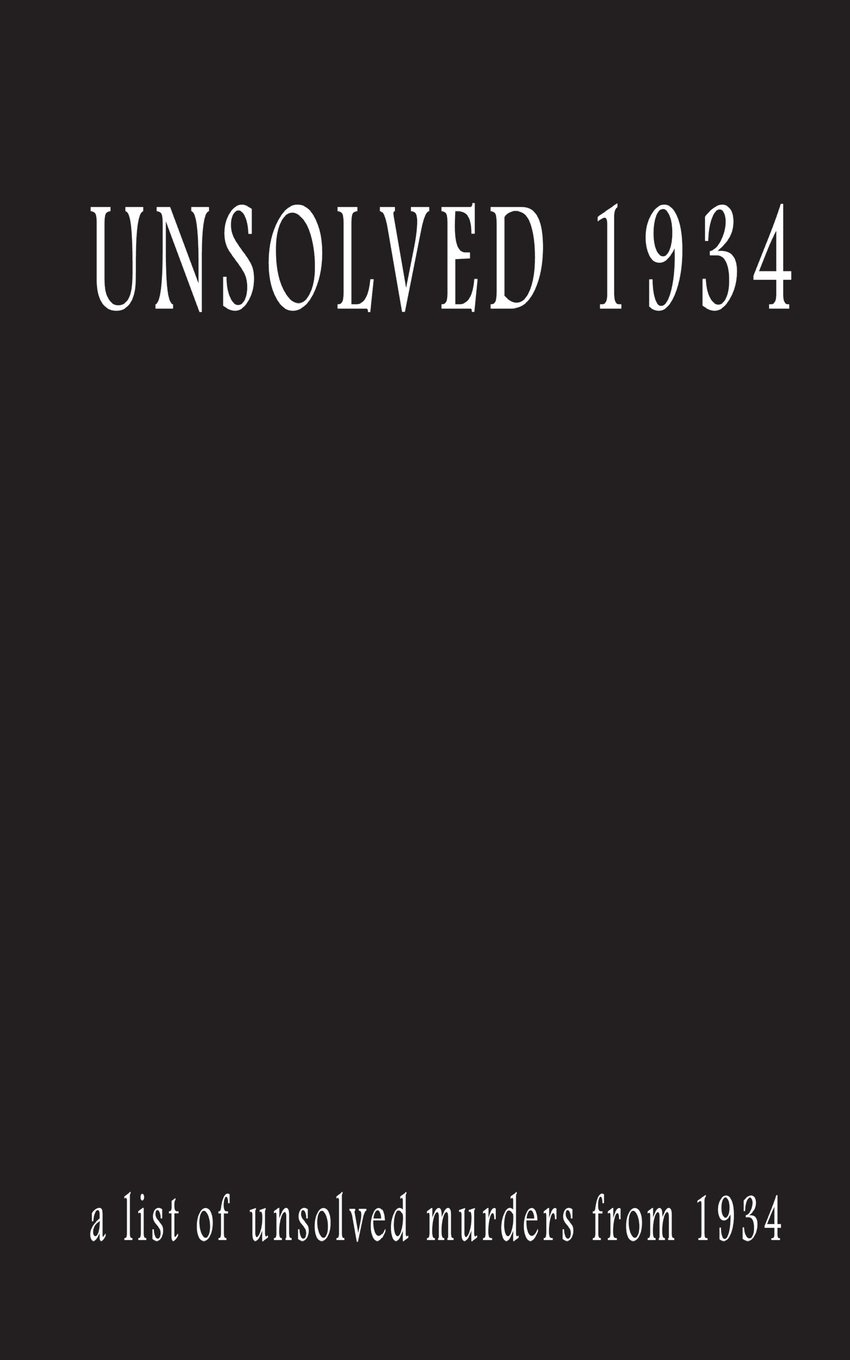 Read Online Unsolved 1934 pdf