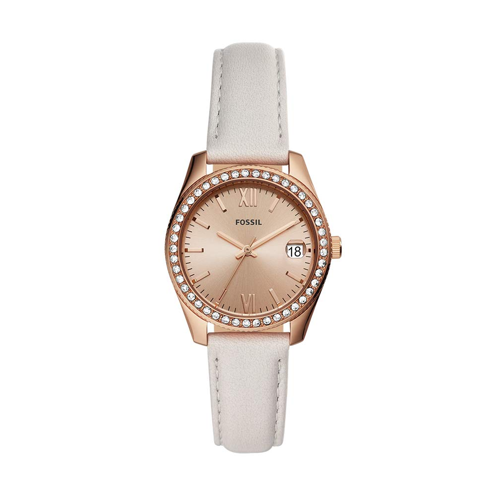 Amazon.com: Fossil Womens Stainless Steel Quartz Leather ...