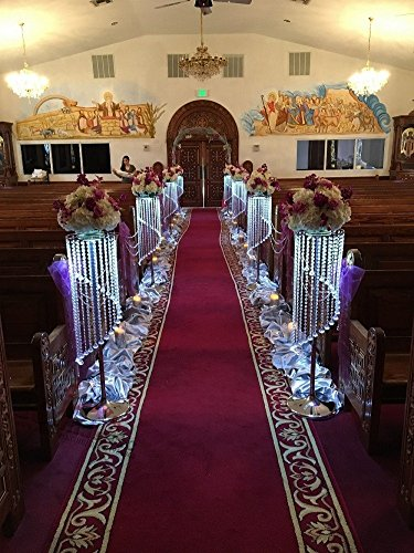 10 pcs/ lot luxury crystal wedding flower stand vase walkway wedding road lead table centerpieces event party T- stand decoration (10, Gold) (Lead Walkway)