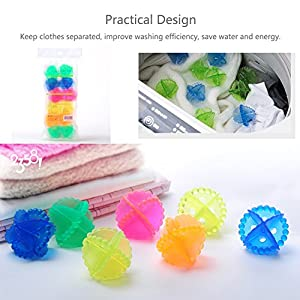 HaloVa Laundry Ball, Tangle-free Colorful Washing Ball, Washing Machine Anti Wind Cleaner Set, Eco-friendly and Reusable, Decontamination helper, Anti Clothes winding, Set of 12