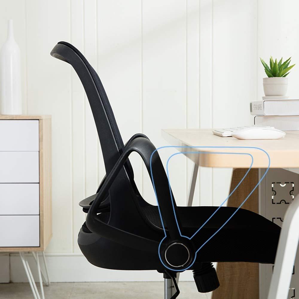 Barstolar Xiuyun datorstol explosionssäker pneumatisk stång hög densitet svamp fyllning kontor stol hushåll liten vridbar säker lastkapacitet modern enkelhet plast Vitt Svart