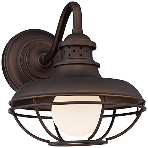 Franklin Park Metal Cage 13'' High Bronze Outdoor Wall Light by Franklin Iron Works