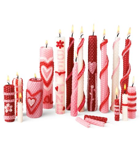 Candle Craft Kit (Valentine Homemade Beeswax Candle Rolling Kit)