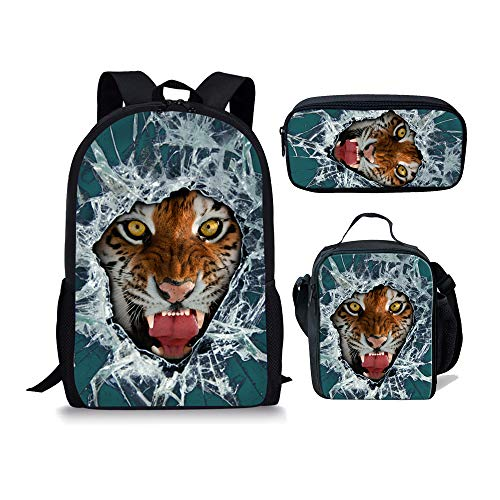 Cartable Noir 1 3pcs 6 Chaqlin Fox Tiger Moyen Oq8TwwUv