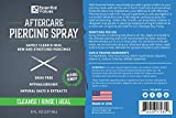 2 PACK Essential Values Piercing Aftercare Spray (8 fl oz Per Bottle), Made from the Finest Salts & Aloe Vera - Natural & Gentle Solution on Contact | Disinfect & Heal Piercing Wounds - Made in USA
