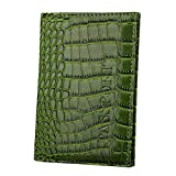 Passport Case ID Card Leather Cover, Outsta Dedicated Nice Travel Holder Protector Organizer Classic Multicolor (Green)