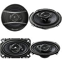 Pioneer TS-A4676R 200W Max 4 x 6 3-Way Coaxial Car Speakers ( PAIR) + Pioneer TS-A1676R 320W 6-1/2 3-Way Coaxial Car Speakers ( PAIR)