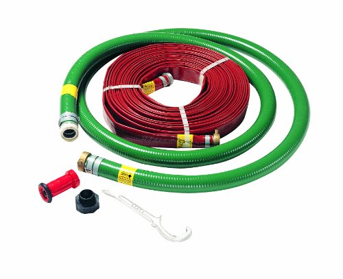 AMT Pump 055-338 2'' High Pressure Hose Kit with 20 ft. 2'' Suction and 100 ft. 1-1/2'' High Pressure (100 PSI) Discharge Hose, 1-1/2'' Fire Nozzle, 1-1/2'' x 2'' Adapter and Hose Wrench by AMT Pumps