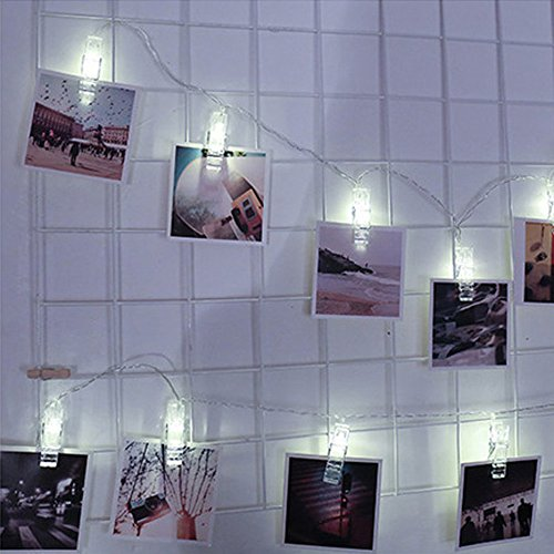 Photo Clip String Lights USB Charging 30 led Curtain lamp with Beads Home Garden Kitchen Arts Crafts Scrapbooking