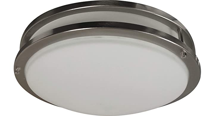 save off 58c17 202b4 32-Inch Oval Flush Mount Ceiling Lighting Fixture (Brushed Nickel)