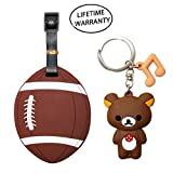 DIYJewelryDepot Sports Ball Luggage Travel Tag for Bags & Backpacks + Bear Keychain (American Football) offers