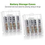EBL AA/AAA Individual Rapid Charger with 8 pcs 1100mAh AAA Rechargeable Batteries