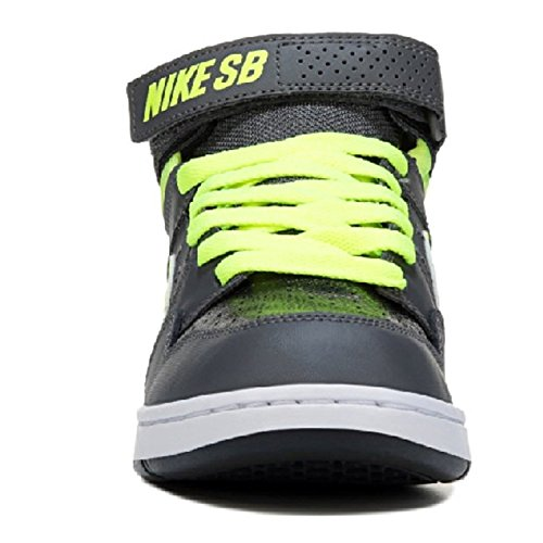 Zapatillas de skate Mogan Mid 2 JR para chicos, gris oscuro / Volt / negro / blanco, 1,5 m US Little Kid