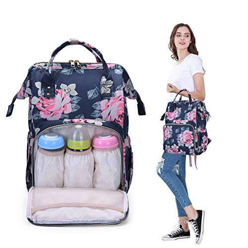 Diaper Backpack for Mom Stylish Maternity Baby Bag-Multi Function Changing Organizer ()