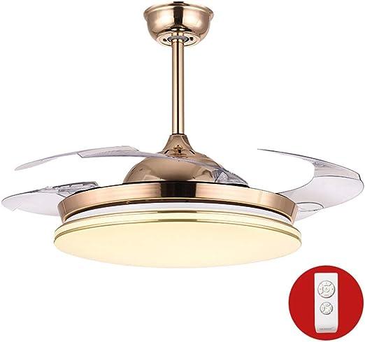 GaoHX Moderno Hogar luz del Ventilador de Techo con luz Fan ...