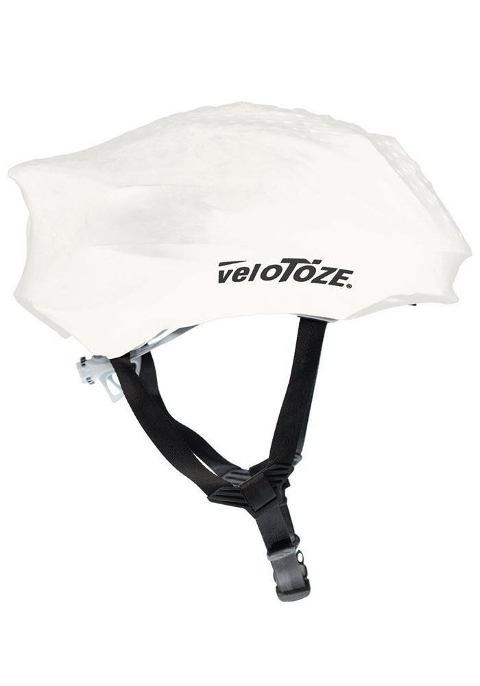 VeloToze Hel-Wht-003 Couvre Casque Mixte Adulte, Blanc VELSL|#Velotoze