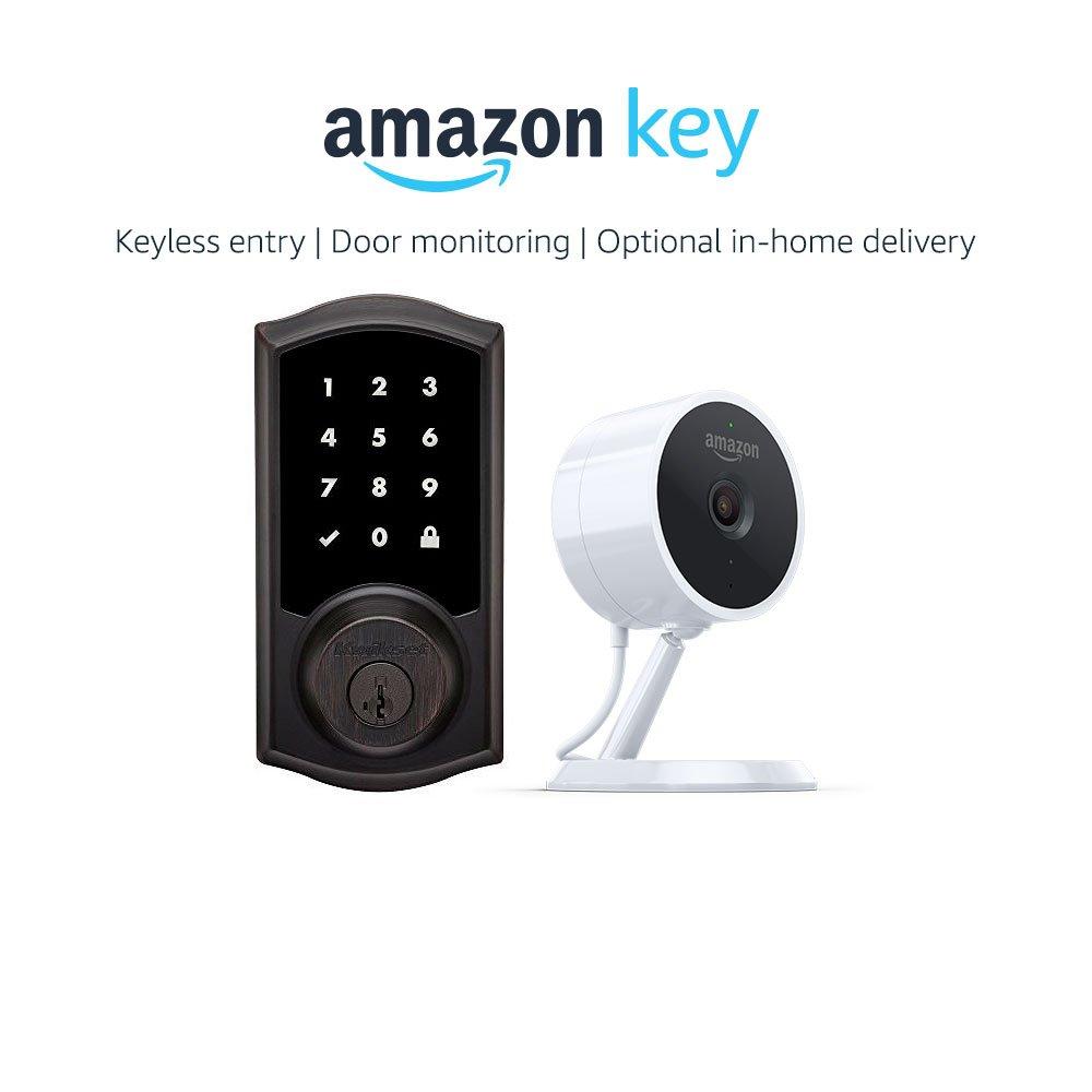 Kwikset 916 Smartcode Zigbee Touchscreen Smartlock Traditional Style in Venetian Bronze + Amazon Cloud Cam