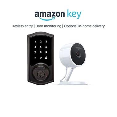 Kwikset 916 Smartcode Zigbee Touchscreen Smartlock Traditional Style in Venetian Bronze + Amazon Cloud Cam, works with Amazon Key