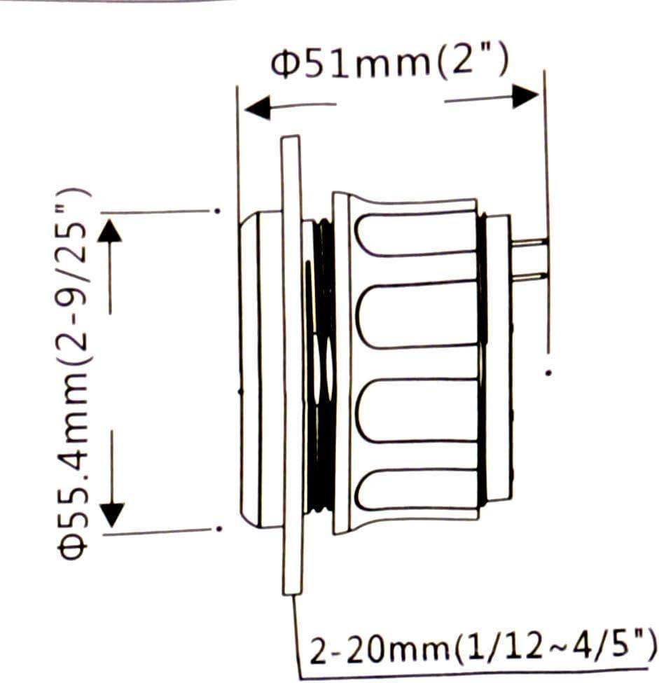 Kit Puntatore E-1//2-F Sensore Serbatoio Carburante balikha 252mm Indicatore Livello Carburante Nero