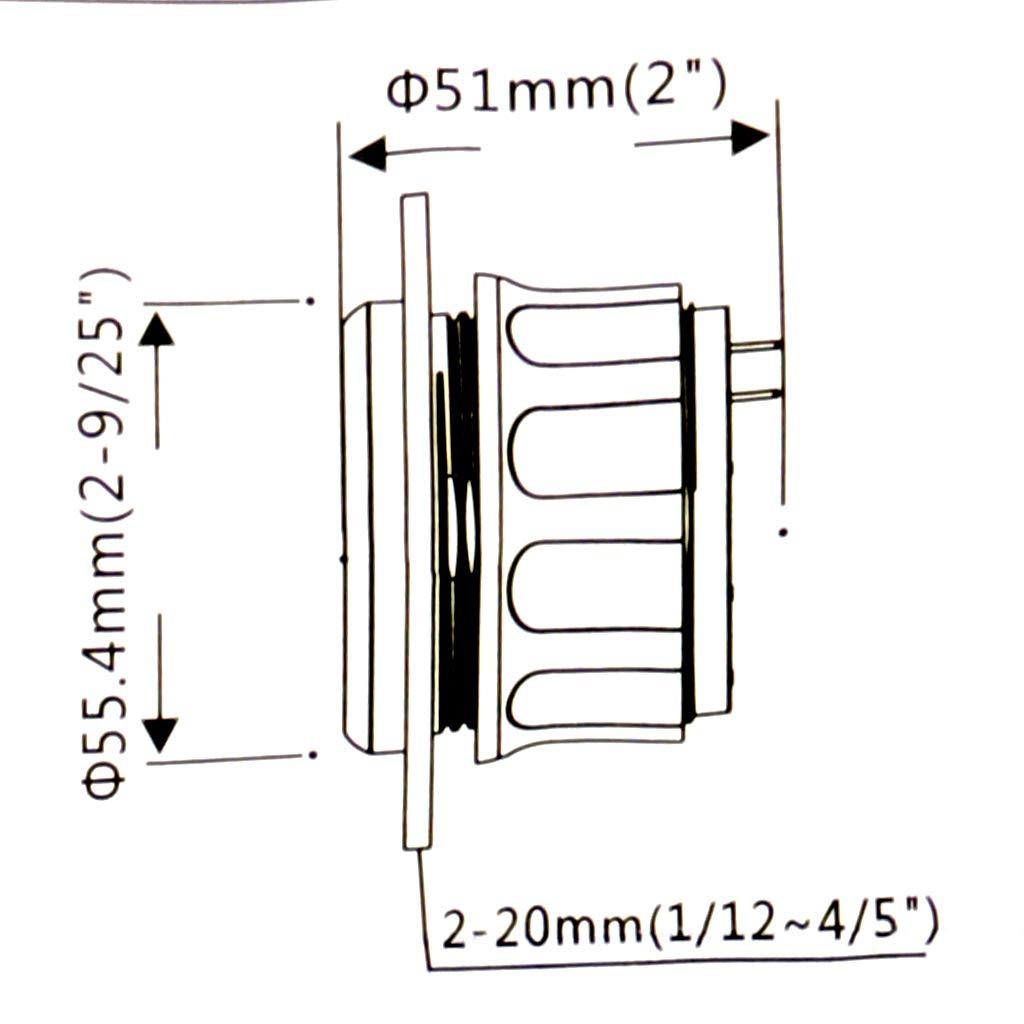 B Blesiya 52mm LED Jauge de Niveau de Carburant,Essence Instruments Marins pour Bateaux