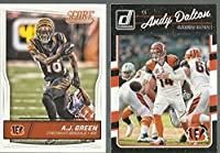2016 Panini Donruss & Score Football Cincinnati Bengals 2 Team Set Lot 25 Cards W/Rated Rookies & Rookies