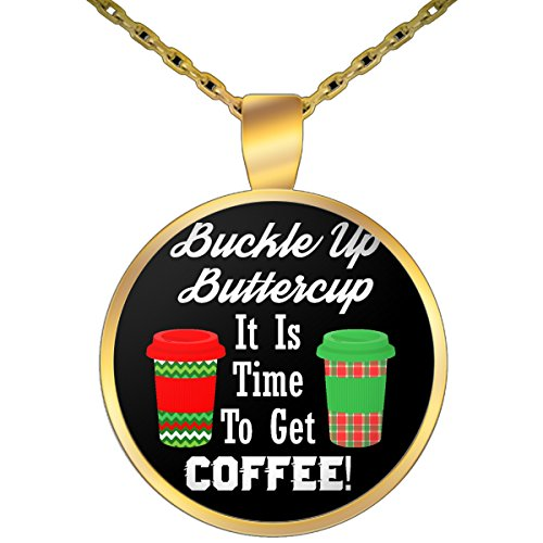 Sterling Gold Iced Beverage (Funny Necklace,
