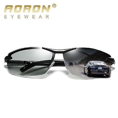 29292fb08e7 Fashion Mens Polarized Photochromatic Sunglasses Fashion Driving Transition  Glasses Lens (Black)