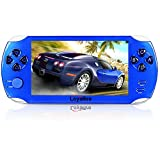 "Handheld Game Console, Loyalfire Game Player with 5"" 64-bit LED Lights 8GB System Portable Video Games, Supports Multiple File Formats, for Birthday Gifts Boys Kids Children Toys (Blue II)"