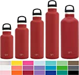 Simple Modern 12oz Ascent Water Bottle - Stainless Steel Hydro Kids Flask w/Handle Lid - Double Wall Vacuum Insulated pink Reusable Tumbler Small Metal Coffee Leakproof Thermos - Malibu